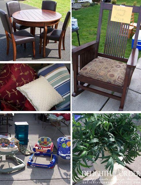 Garage sale tips. | Yard Sale Junkies | Pinterest