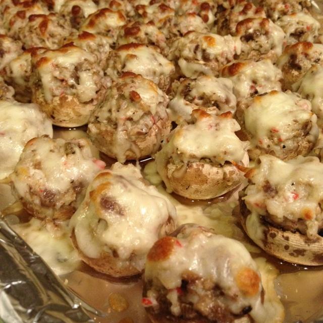 Crab Stuffed Mushrooms | Appetizers | Pinterest