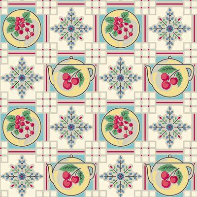 1940s Retro Kitchen Wallpaper | VINTAGE | Pinterest
