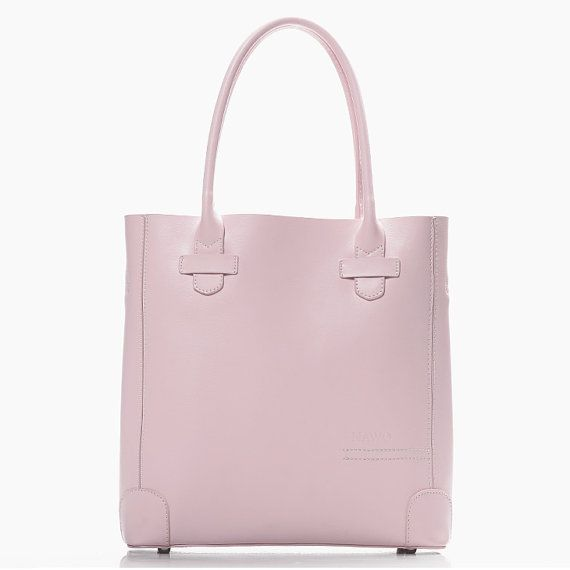 light pink leather tote shoulder bag hand bag leather tote. Black Bedroom Furniture Sets. Home Design Ideas