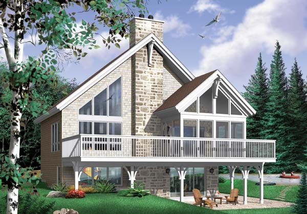 A Frame Coastal Contemporary Craftsman House Plan 65480