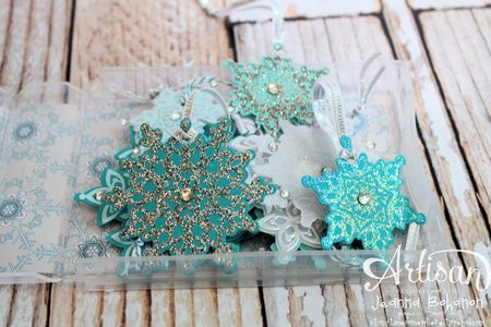 We love this box full of tags made with the Festive Flurry stamps and Framelits.