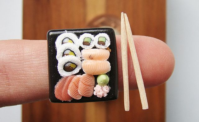 Miniature Food - Sushi by PetitPlat - Stephanie Kilgast, via Flickr