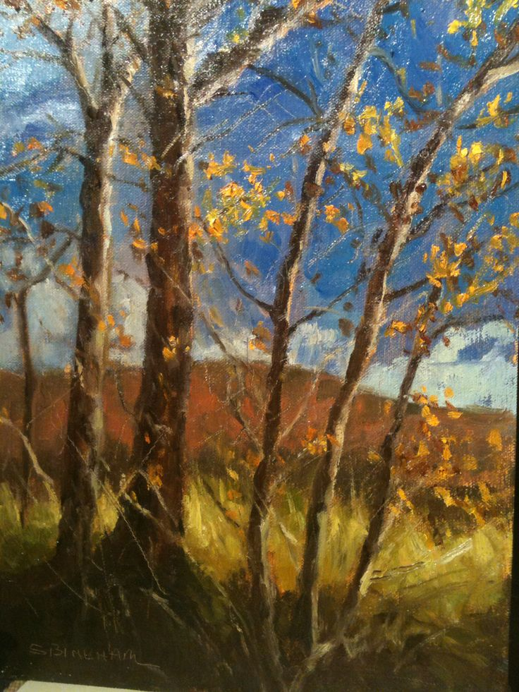 Autumn Chill 12x9 oil/panel | Paintings by S. Bingham | Pinterest