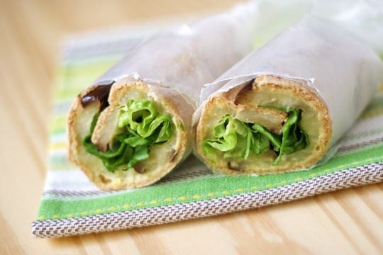 eggplant and hummus wrap | Eggplant | Pinterest