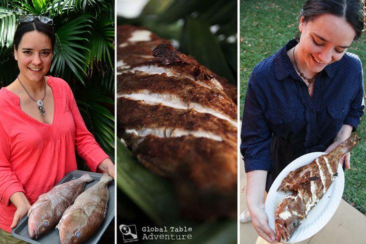 Roasted Whole Fish from the Maldives (Fihunu Mas)   Recipe