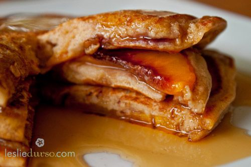 Whole wheat peach panckes YUM!!! I absolutely LOVE this website!!!!