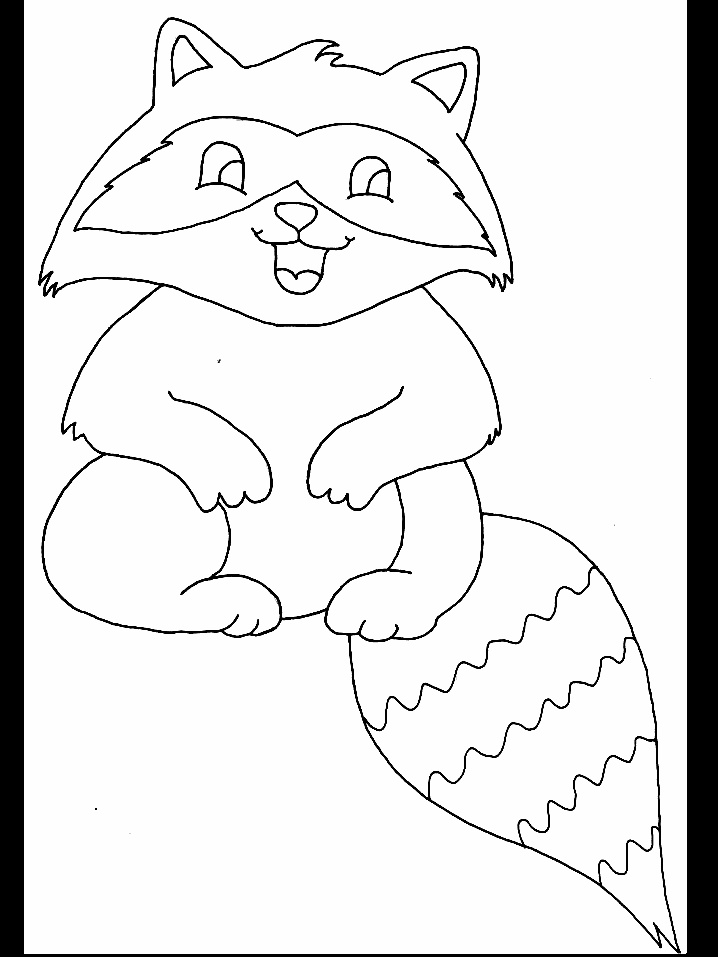 Pin baby raccoon coloring pages on pinterest - Raccoon Image For Kids Craft Project Night Animals