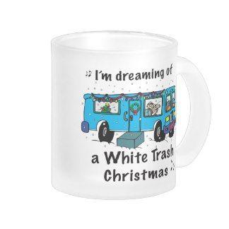 Christmas table decorations - White Trash Christmas Mugs Christmas Gift Ideas Pinterest