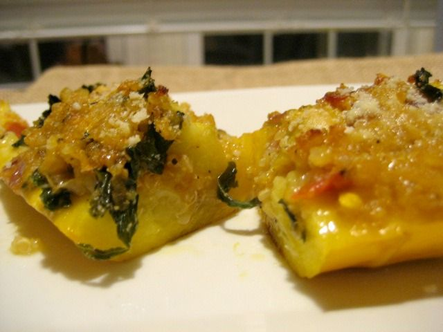 Yellow Squash Boats Stuffed with Quinoa and Veggies | Recipe