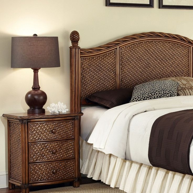 Outfit your bedroom in island style with this king-size rattan ...