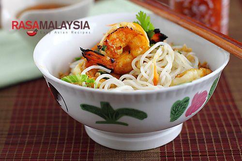 Vietnamese BBQ Shrimp Vermicelli (Bun Tom Heo Nuong)