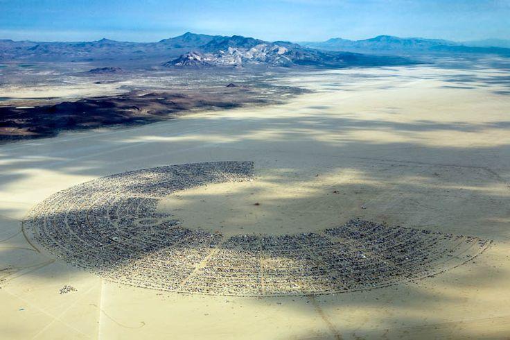 Burning man festival from above