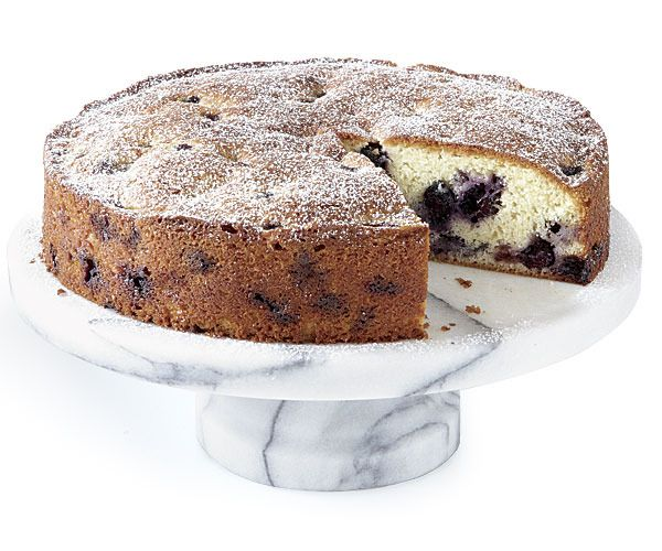 Blueberry-Muffin Cake by Fine Cooking. This cake is really muffin ...