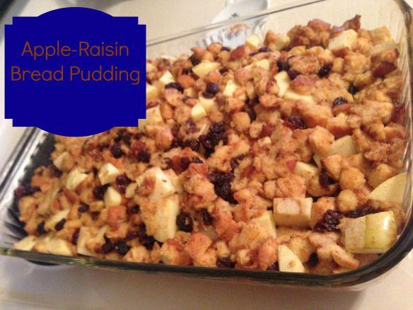 Apple-Raisin bread pudding | Foxy Whole Foodie Recipes (Tried and Tru ...