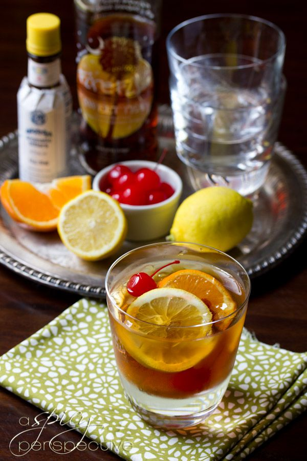 Sweet Tea Old Fashioned Cocktail