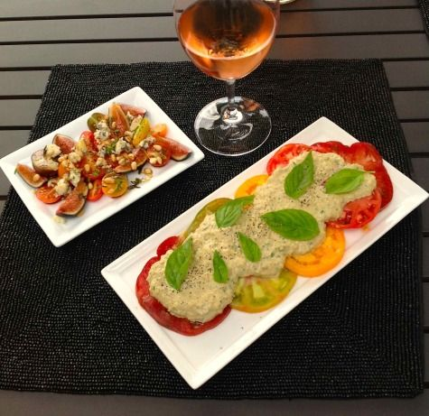 tomato tonnato and tomato fresh fig amp blue cheese salad