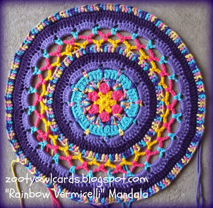 Crochet Patterns Using Mandala Yarn : crochet mandala with variegated yarn Crochet Pinterest