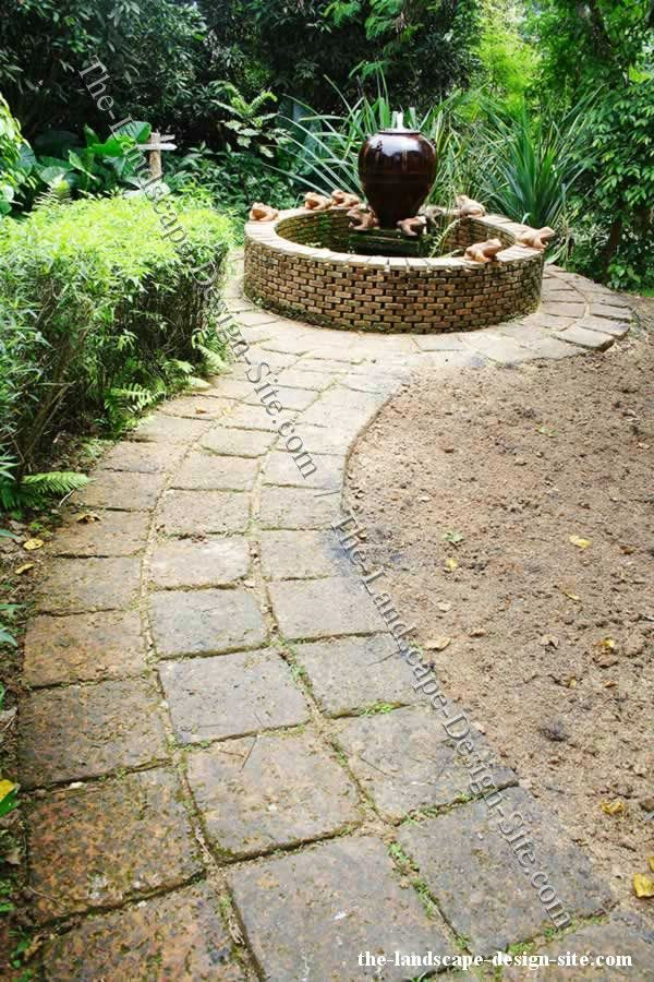 square pavers to create a pathway Garden Outdoor