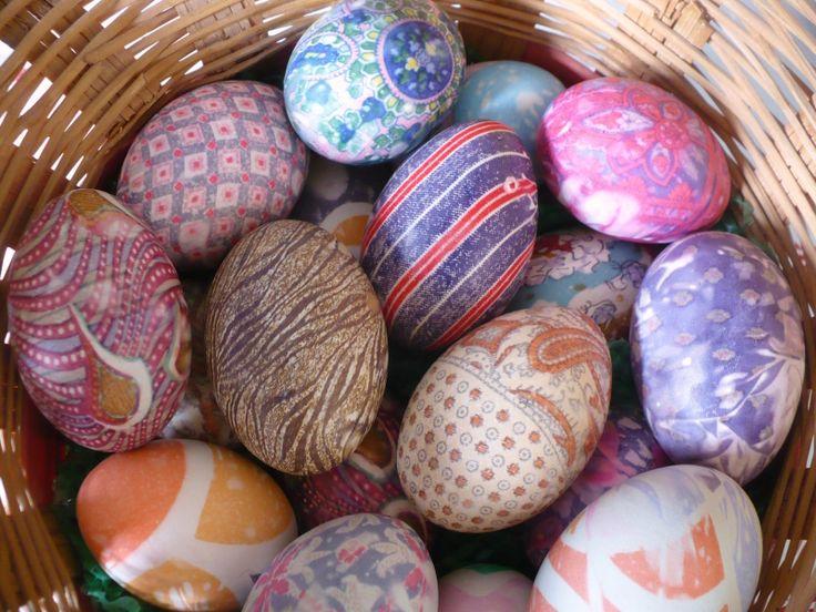 Silk dyed Easter eggs--genius!