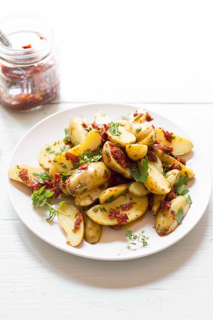 Fingerling Potato Salad with Sun-Dried Tomato Basil Vinaigrette on The ...