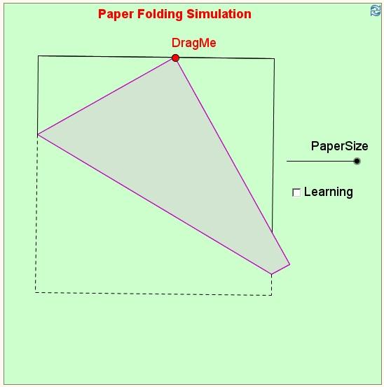 Paper Folding Simulation | Mathematics | Pinterest