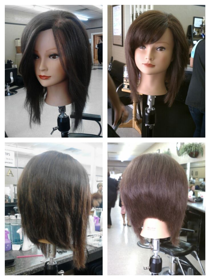 Bob haircut before and after hairstyles for Adiva beauty salon