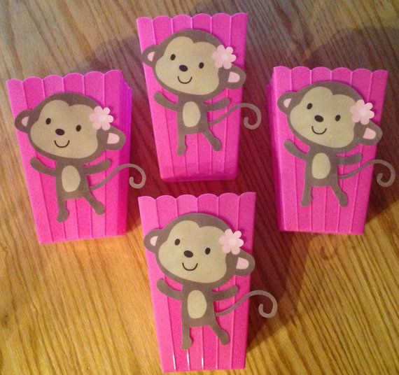 Monkey baby shower table decor photograph pink jungle jill - Baby shower monkey decorations for a girl ...