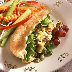 Curried chicken pitas #pita #recipe