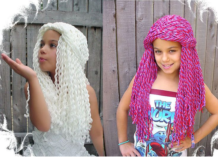 Crochet Hair Yarn : Yarn Falls Hair Crochet Fashion Wig White Queen Custom Made. $80.00 ...