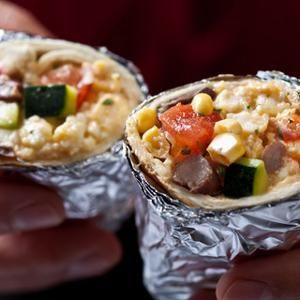Vegetarian Breakfast Burritos - The summer tri-fecta of zucchini ...