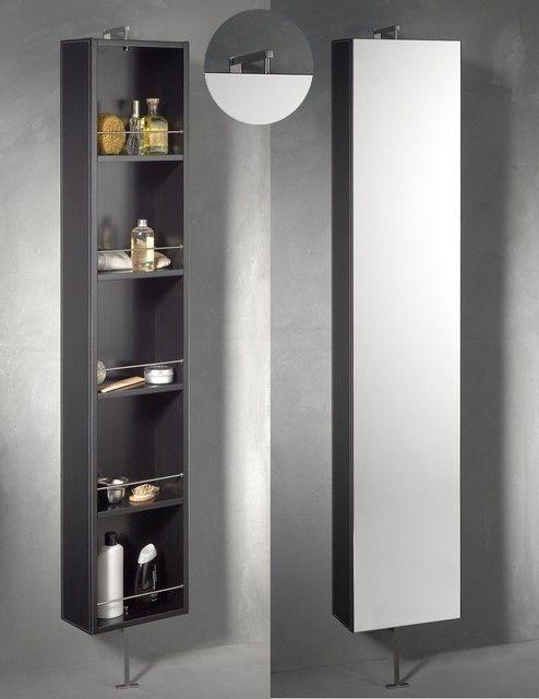 Armoire pivotante salle de bains astuces rangement for Armoire salle de bain noir