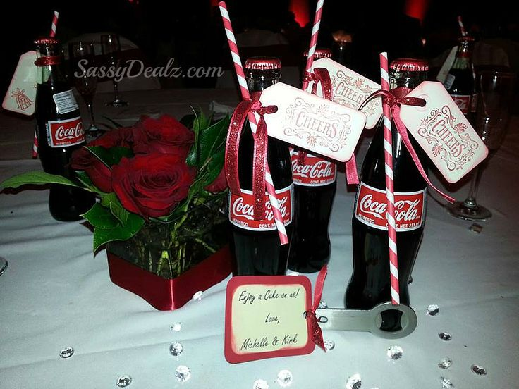 Wedding Favor Tags Michaels : DIY Coke bottle wedding favors! We bought the paper red/white straws ...