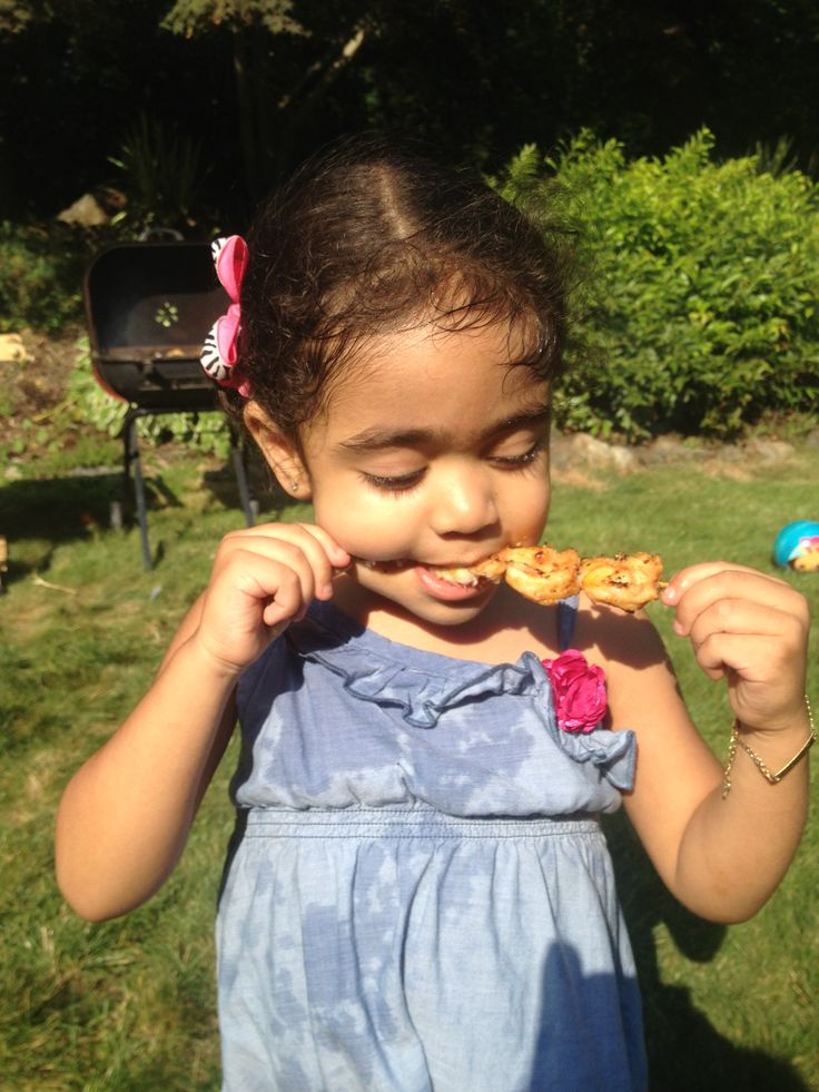 Giselle eating some miso butter shrimp | DnA Smokehouse | Pinterest