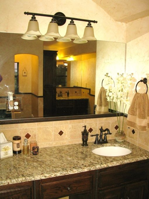 Spa retreat tuscan style bathroom designs decorating Tuscan style bathroom ideas