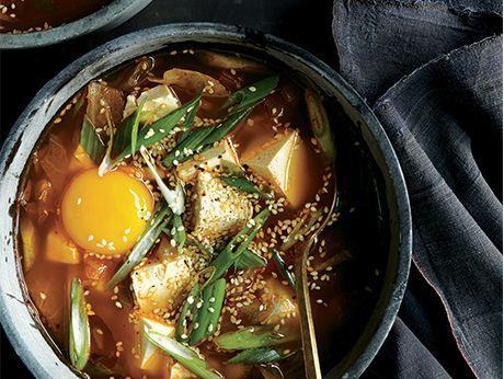 with tofu kimchi stew with chicken and tofu recipes dishmaps kimchi ...