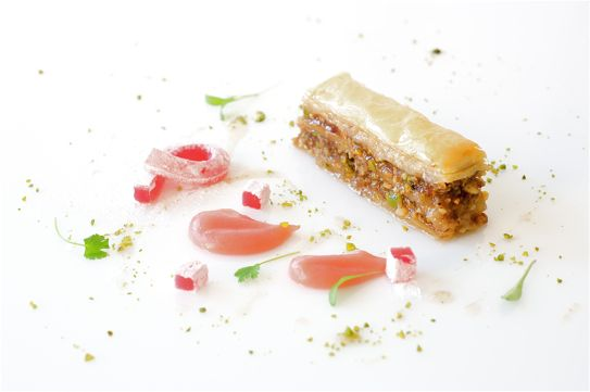 Pistachio and Walnut Baklava with Rhubarb and Rose Delights Recipe by ...