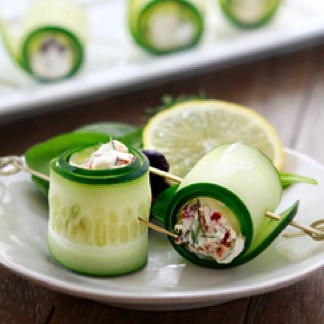 Cucumber feta rolls | Bon Appetit. | Pinterest