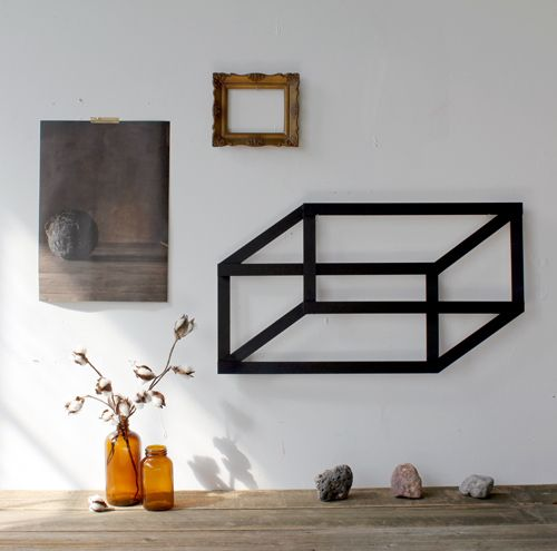 diy geometric wall art (via design*sponge)