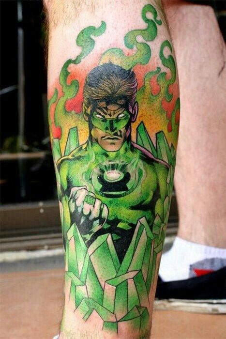 Green lantern tattoo - photo#2