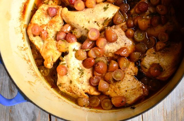 Roasted Chicken with Grapes and Rosemary   Recipe