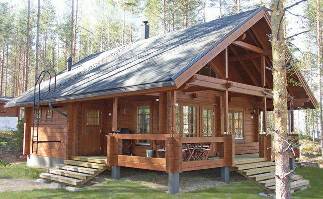 log mobile homes with lofts | Gross floor area: 60 m2, loft 10 m2 ...