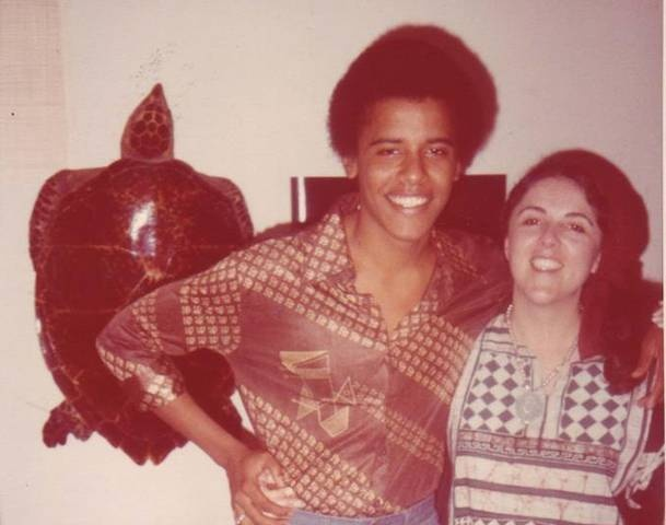 Young barack obama and his late mother ann dunham