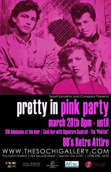 Pretty In Pink theme party posterPretty In Pink Poster