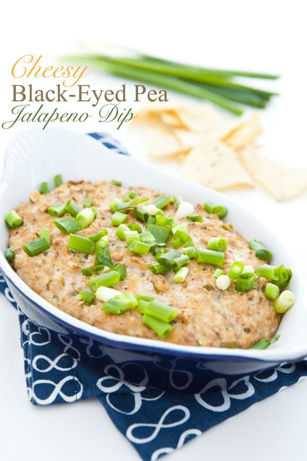 Cheesy Black-Eyed Pea Jalapeno Dip | Recipe