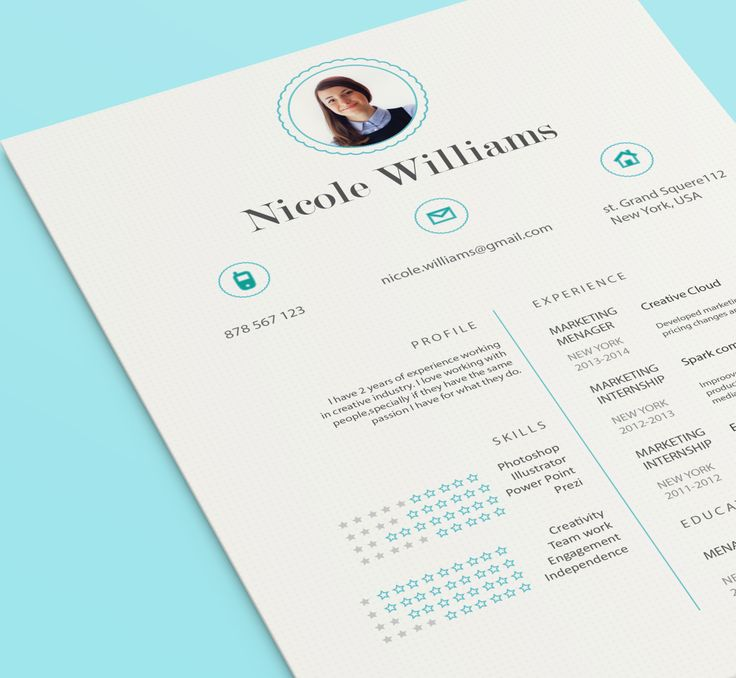 Beautiful Resume + FREE Cover letter made-to-measure from CVdesing