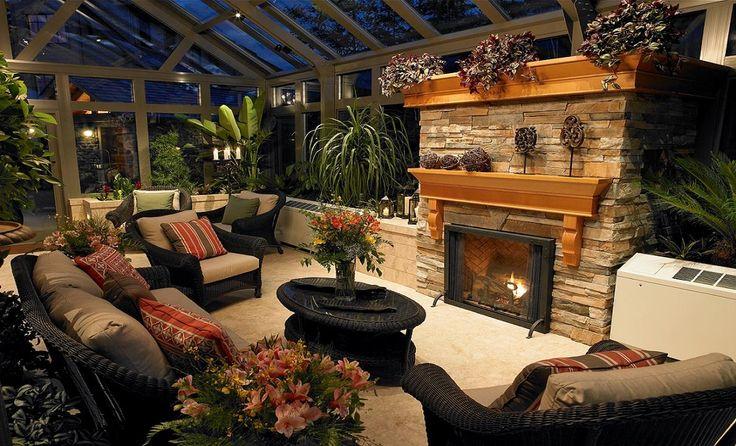 A glass garden room love home interiors pinterest for Garden glass room