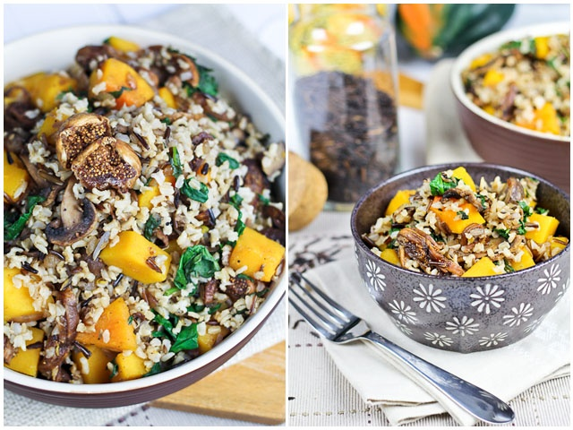 butternut squash and spinach roasted brown butter butternut squash ...