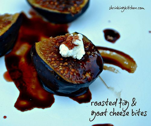 roasted fig & goat cheese bites (making it with blue cheese instead)