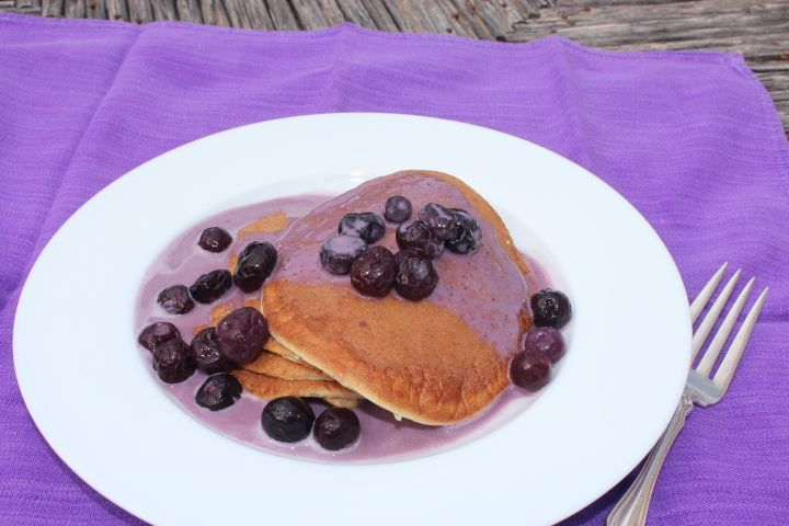 ... pancakes made with PureNourish, blueberries, cottage cheese, oatmeal